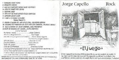 """2002   """"El Juego"""" - Jorge Capello"""
