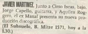 Formación para Javier Martínez